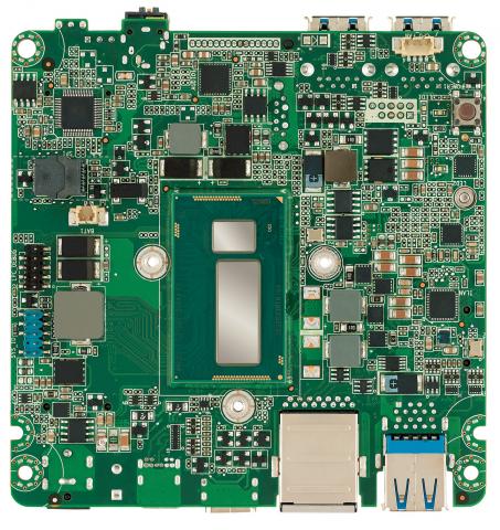 Die Unterseite der Platine mit dem ULT-Prozessor und dem QM87-PCH (Bild: Intel)
