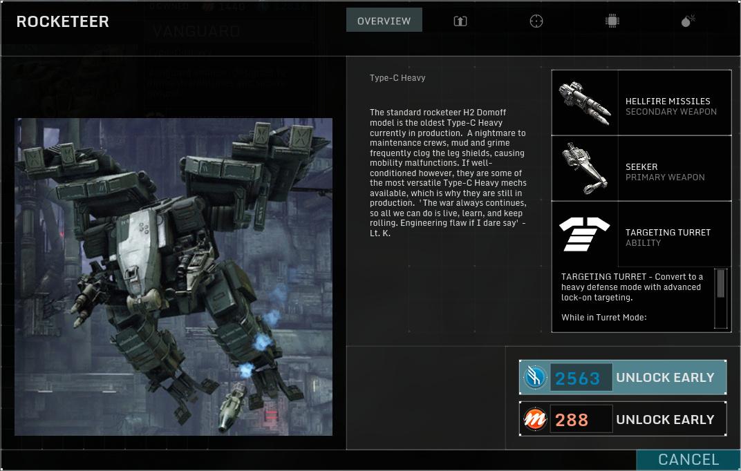Betatest Hawken: Der F2P-UE3-Indie-Mech-Shooter - Der Rocketeer, ein schwerer Mech (Screenshot: Marc Sauter/Golem.de)