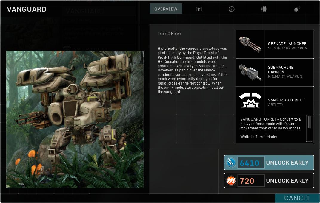 Betatest Hawken: Der F2P-UE3-Indie-Mech-Shooter - Der neue Vanguard, ein schwerer Mech (Screenshot: Marc Sauter/Golem.de)