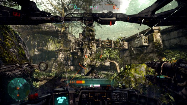 Hawken nutzt die Unreal Engine 3 ... (Screenshot: Marc Sauter/Golem.de)