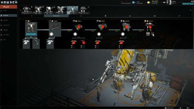 Der Mech-Rank schaltet Verbesserungen für jeden Kampfroboter frei. (Screenshot: Marc Sauter/Golem.de)