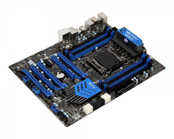 Für den Test des Core i7-4960X verwenden wir das sparsame MSI X79A-GD65 (8D). (Bild: MSI)