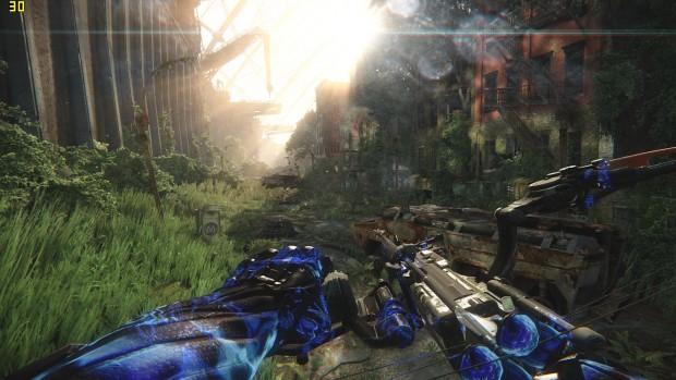 Selbst Crysis 3 schultert das Razer Blade in nativer Auflösung mit hohen Details und 2Tx SMAA flüssig. (Screenshot: Marc Sauter/Golem.de)