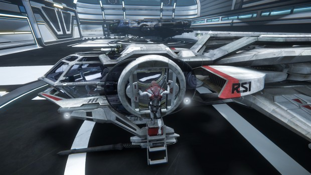 Das Hangar-Modul von Star Citizen (Screenshot: Golem.de)