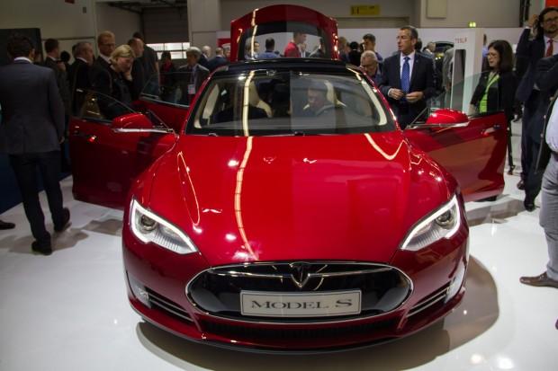 Die Elektrolimousine Model S von Tesla Motors (auf der IAA 2013) (Foto: Werner Pluta/Golem.de)