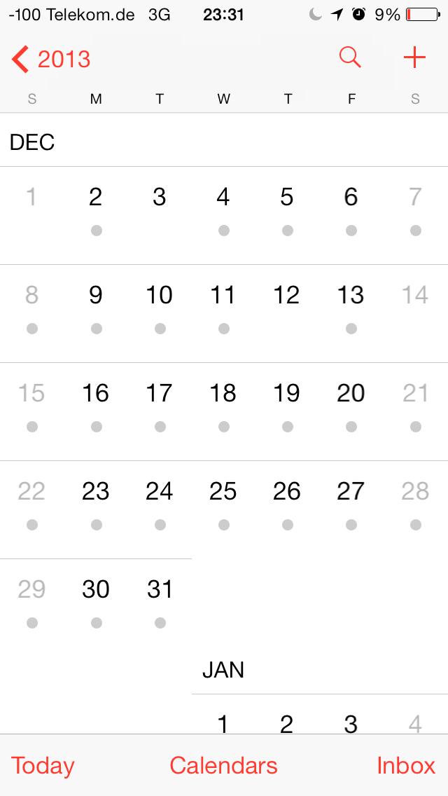 iOS 7 im Test: Bunte Farben und kleine Kompatibilitätsprobleme - ... Monats- ...(Screenshot: Golem.de)