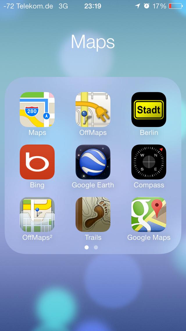 iOS 7 im Test: Bunte Farben und kleine Kompatibilitätsprobleme - Ein Ordner kann nun...(Screenshot: Golem.de)
