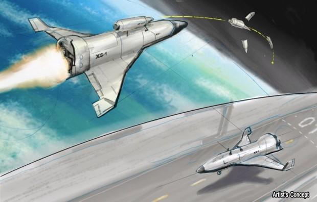 Künstlerische Darstellung des XS-1 (Bild: Darpa)