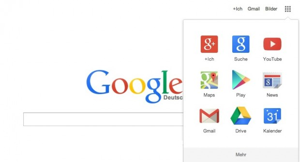 Neues Google-Logo auf der überarbeiteten Website (Bild: Google)