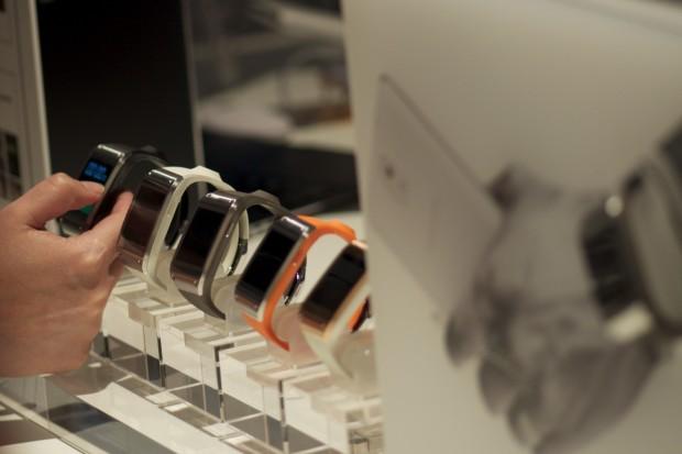 Samsungs Smartwatch Galaxy Gear (Bilder: Andreas Sebayang/Golem.de)