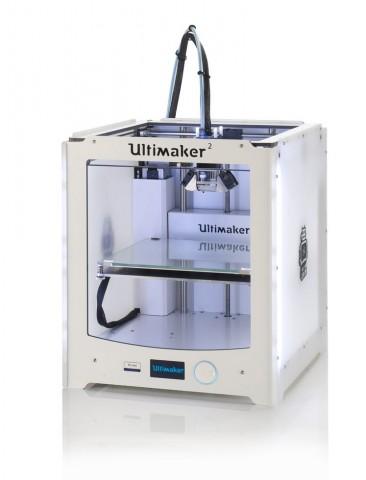 Der Ultimaker 2 unterscheidet sich äußerlich vom Vorgänger durch sein weißes Kunststoffgehäuse. (Foto: Ultimaker)