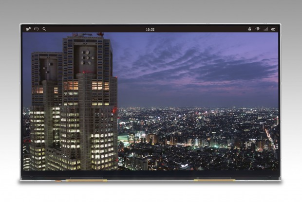 Das 4K-Display in höchster vorliegender Bildauflösung (Foto: Japan Display)