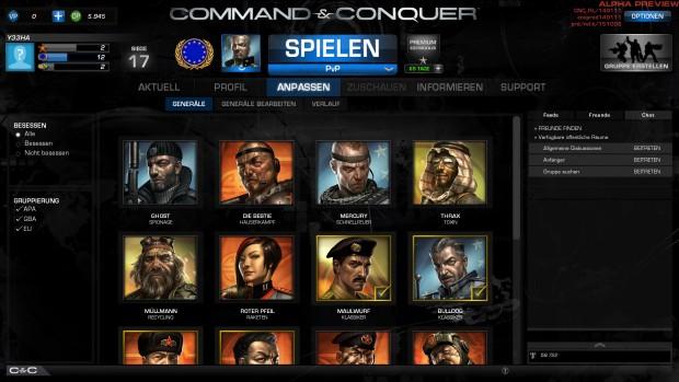 Derzeit gibt es 18 unterschiedliche Generäle. (Screenshot: Marc Sauter/Golem.de)