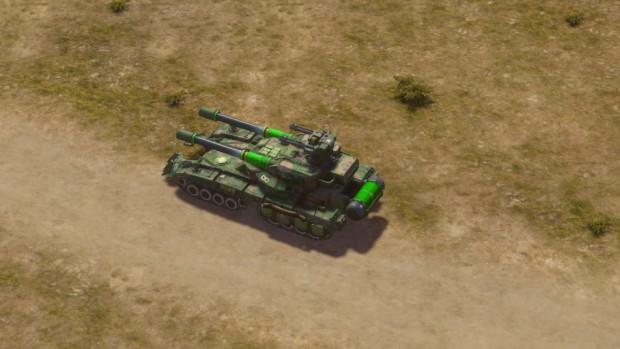 Der Overlord-Panzer in Command & Conquer 2013 (Screenshot: Marc Sauter/Golem.de)