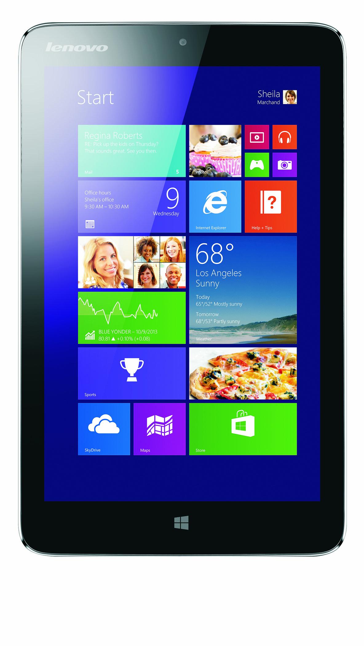 Lenovo Miix 2: 8-Zoll-Tablet mit Windows 8.1 und Bay-Trail-SoC für 300 USD - Das Tablet soll noch 2013 in Deutschland erscheinen. (Bild: Lenovo)