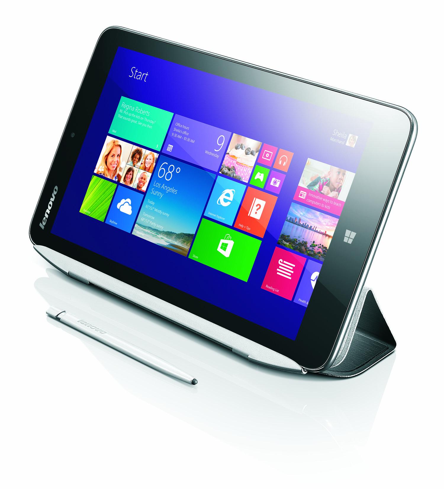 Lenovo Miix 2: 8-Zoll-Tablet mit Windows 8.1 und Bay-Trail-SoC für 300 USD - Das neue Windows-8.1-Tablet Miix 2 von Lenovo (Bild: Lenovo)