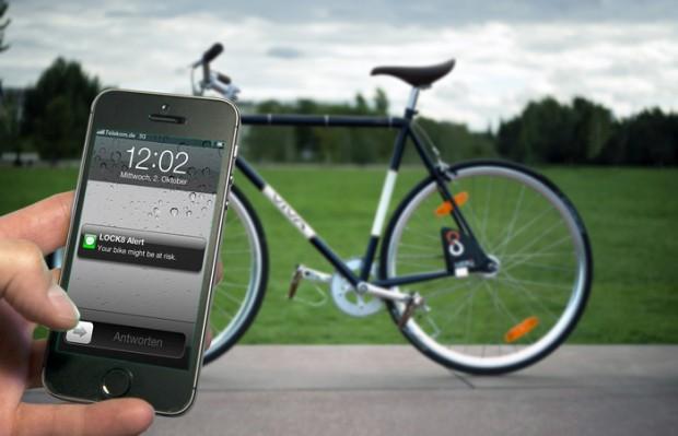Per Smartphone lässt sich das Lock8 öffnen (Bild: Kickstarter)