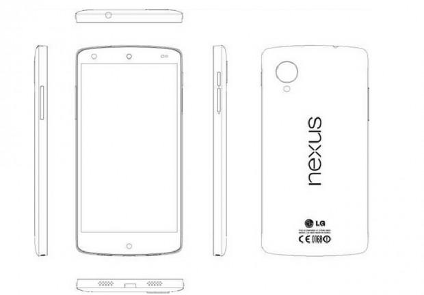 Das neue Nexus 5 in einer schematischen Zeichnung (Bild: LG/Screenshot: Golem.de)