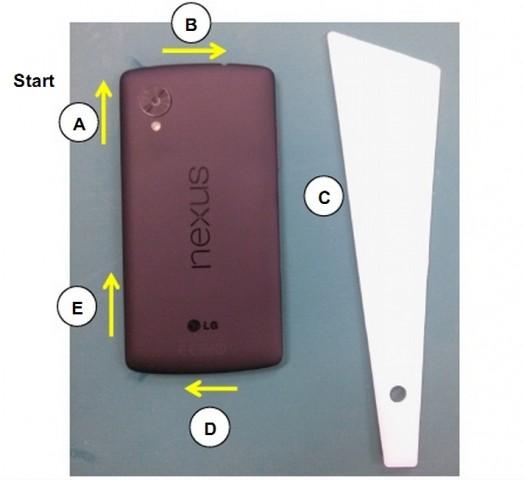 Die Rückseite des neuen Nexus 5 (Bild: LG/Screenshot: Golem.de)