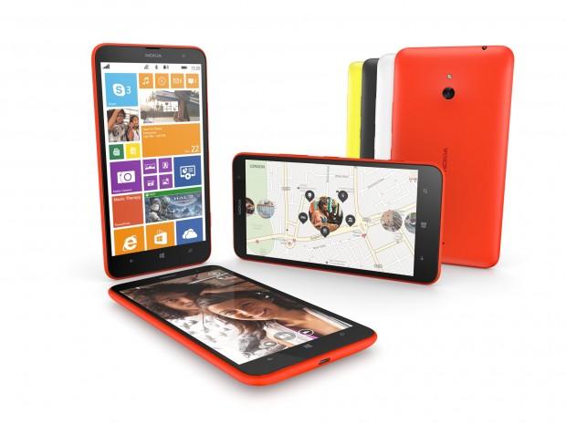 Nokia hat mit dem Lumia 1320 ein weiteres Windows-Phone-Smartphone mit 6 Zoll großem Display vorgestellt. (Bild: Nokia)
