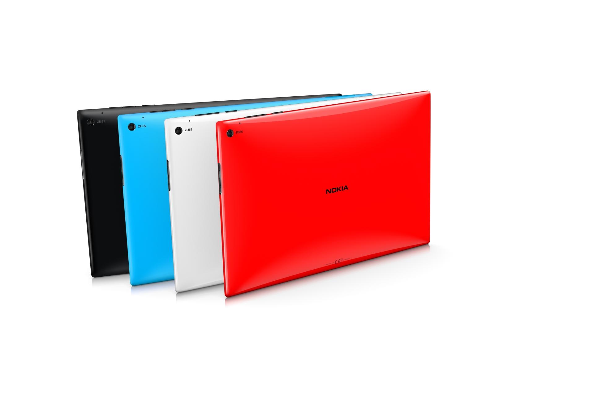 Lumia 2520: Nokias erstes Tablet kommt mit Snapdragon 800 und LTE - Es erscheint in vier Farben. (Bild: Nokia)