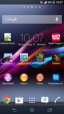 Über die Android-Version 4.2.2 hat Sony eine eigene Benutzeroberfläche installiert. (Screenshot: Golem.de)