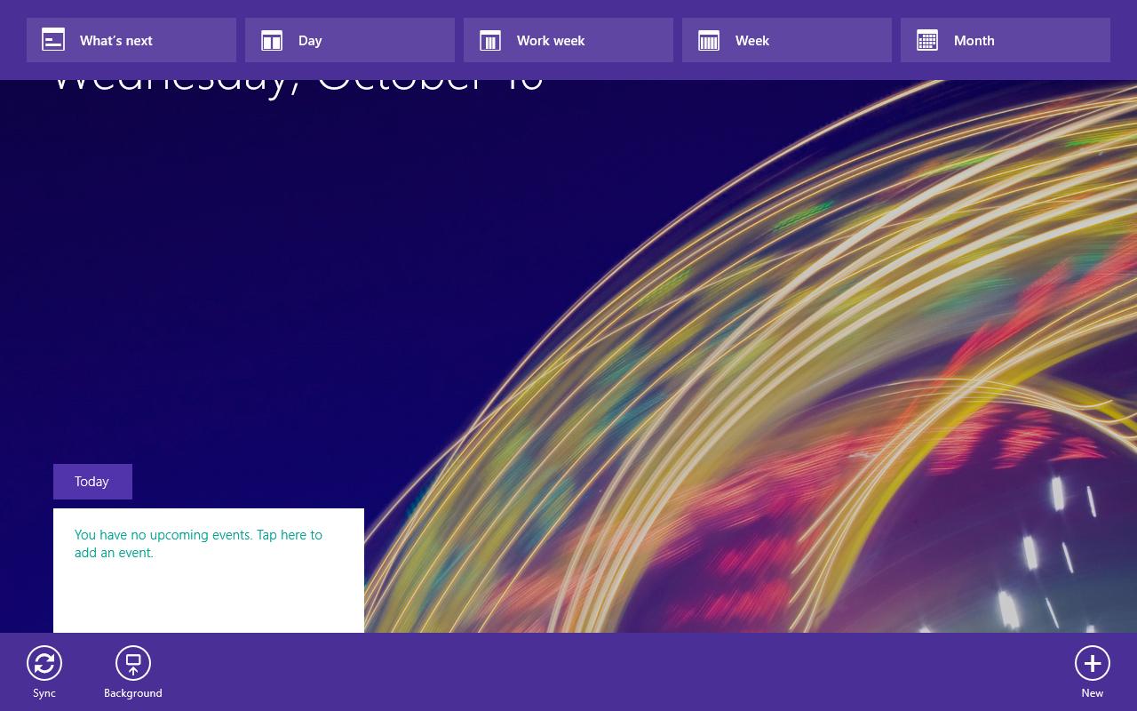 Windows 8.1 im Test: Nicht mehr die Suche suchen - Sie deuten an, dass sich oben noch Funktionen verstecken, die sich sonst per Fingerwisch oder per Rechtsklick irgendwohin zeigen. (Screenshot: Golem.de)