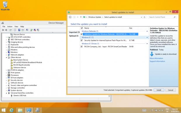 Erstinstallation auf einem Elitebook 2740p. Die meisten Treiber bringt das Betriebssystem mit,... (Screenshot: Golem.de)
