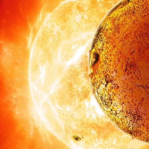 Kepler-78b ist seinem Zentralgestirn sehr nahe: Er umkreist es in nur 8,5 Stunden. (Bild: David A. Aguilar/CfA)