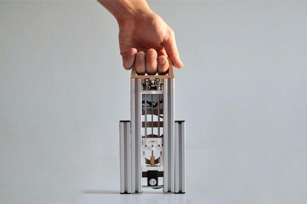 Der 3D-Drucker Lumifold ist mobil und... (Foto: Indiegogo)