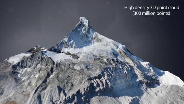 Drohnenkarte vom Matterhorn: Die Karte deckt ein Gebiet von 28 Quadratkilometern ab und bietet eine durchschnittliche Auflösung von 20 Zentimetern. (Bild: Sensefly)