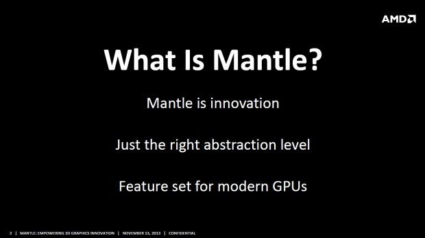 Das Mantle-API im Überblick (Bild: AMD)