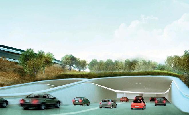 Neue Bilder: So sieht das Innere von Apples neuem Hauptquartier aus - Die Zufahrt zur Tiefgarage (Bild: Stadt Cupertino)