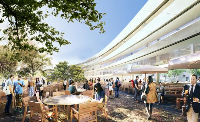Neue Bilder: So sieht das Innere von Apples neuem Hauptquartier aus - Im Inneren des Rings befindet sich ebenfalls eine Parklandschaft. (Bild: Stadt Cupertino)
