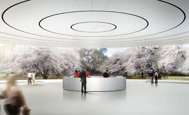 Neue Bilder: So sieht das Innere von Apples neuem Hauptquartier aus - Der obere Teil des Auditoriums (Bild: Stadt Cupertino)