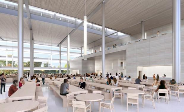 Die Cafeteria im Hauptgebäude (Bild: Stadt Cupertino)