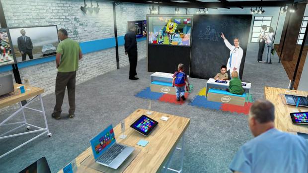 Auch Kinder sollen sich in den Intel-Stores wohlfühlen, ... (Bilder: Intel)
