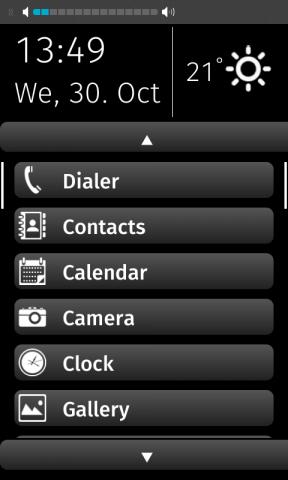 Konzept einer Bedienoberfläche für Senioren-Smartphones auf Basis von Firefox OS (Bild: Net Mobile)
