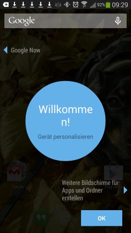 Der neue Launcher des Nexus 5 auf einem Samsung Galaxy Note 3 (Screenshot: Golem.de)