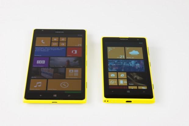 Verglichen mit dem Lumia 1020 ist das Lumia 1520 deutlich größer. (Bild: Tobias Költzsch/Golem.de)
