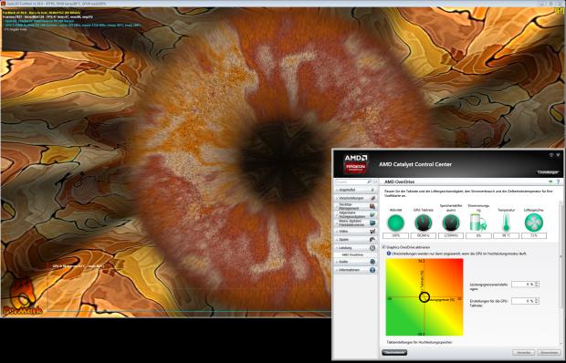 Furmark erkennt nur den Maximaltakt und treibt die 290 hier auf 98 Grad. (Screenshot: Golem.de)