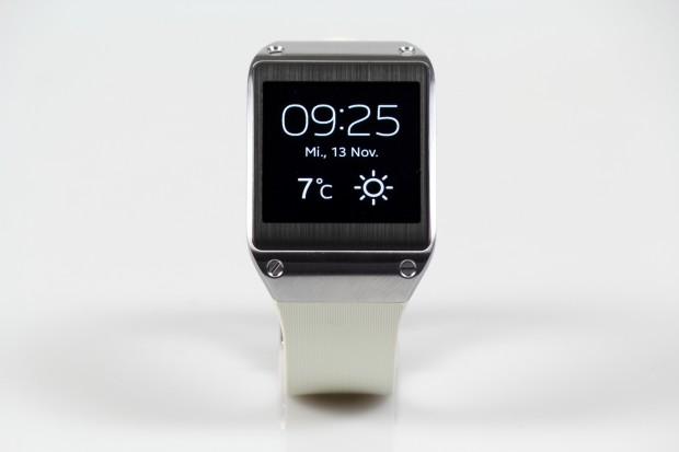 Die Smartwatch Galaxy Gear von Samsung (Bild: Tobias Költzsch/Golem.de)