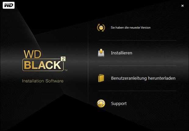 WDs Installationsprogramm nach dem Start. (Screenshots: Golem.de)