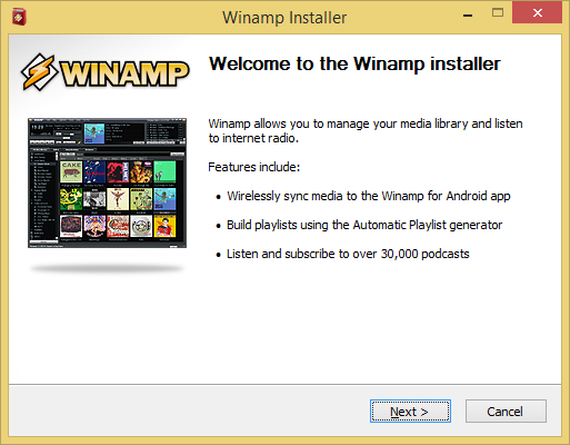 Winamp 5.66 ist die letzte Version des beliebten Mediaplayers. (Screenshot: Golem.de)