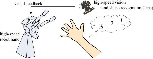 Funktionsweise des Roboters (Grafik: Ishikawa-Oku-Labor)