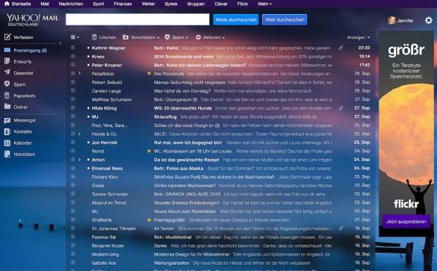 Yahoos neue Webmail (Bild: Yahoo)