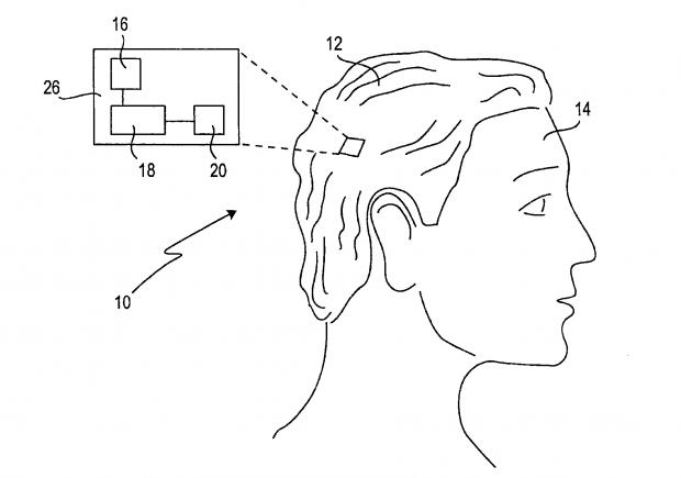 Sony Smartwig (Bild: US-Patent- und Markenamt)