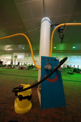 Auf dem Chaos-Kongress ist ein Rohrpostsystem installiert. (Foto: Andreas Sebayang/Golem.de)