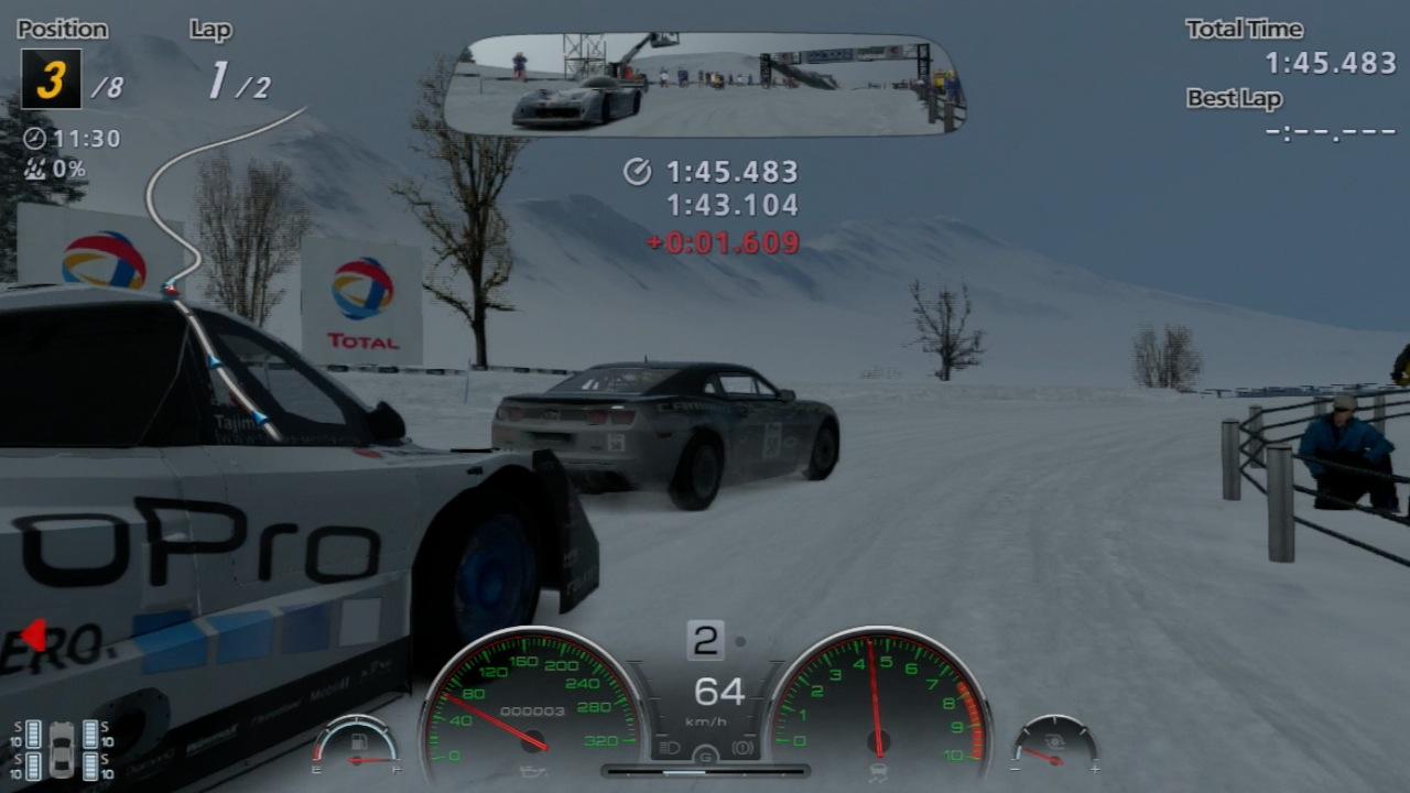 Gran Turismo 6 im Test: Fahrspaß bei Tag, Nacht, Wind und Wetter - Im Audi durch den Schnee auf einer Rallyepiste