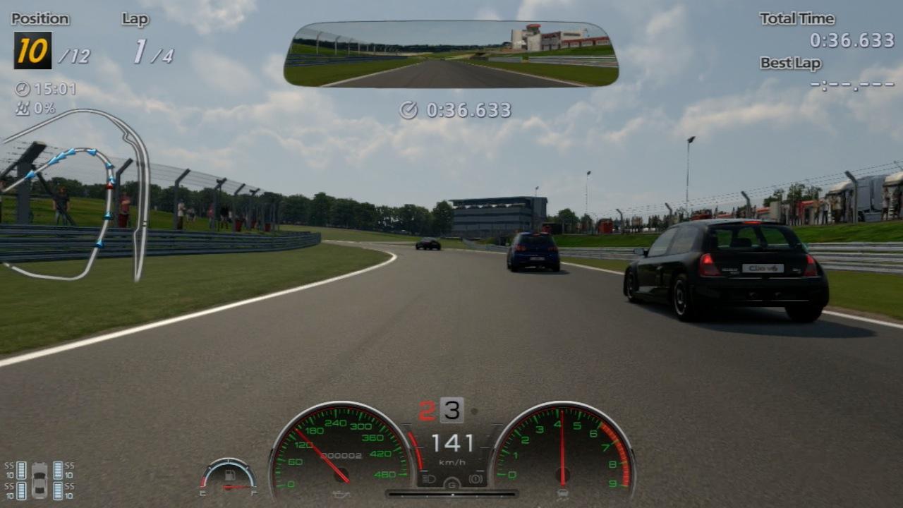 Gran Turismo 6 im Test: Fahrspaß bei Tag, Nacht, Wind und Wetter - Die Standardperspektive in Gran Turismo 6